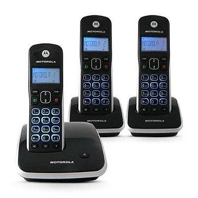 TELEFONE SEM FIO MOTOROLA DIGITAL AURI3500 DECT6 C/ 3 RAMAIS