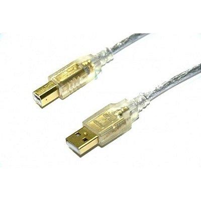 CABO USB BLINDADO A X B PARA IMPRESSORA 1.80 OURO