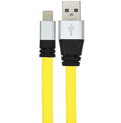 CABO USB DE SILICONE CARREGADOR E DADOS PARA IPHONE 5 E 6
