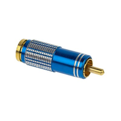 Plug RCA 6MM - Metal Azul - Sound Diamond