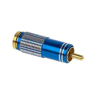 Plug RCA 6MM - Metal Azul - Sound Diamond