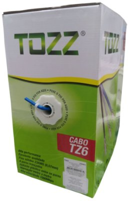 Cabo de Rede Tozz TZ6 Cat6 cx 305mts