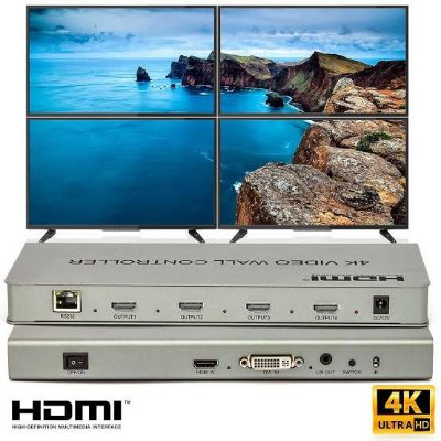 Video Wall Full Hd Controller 2x2 4K