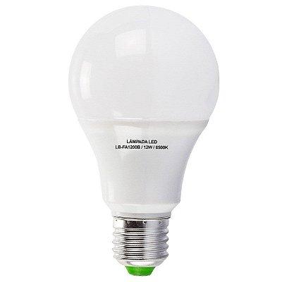Lâmpadas 12W LED Bulbo E27, 600K, Bivolt - Branco Frio
