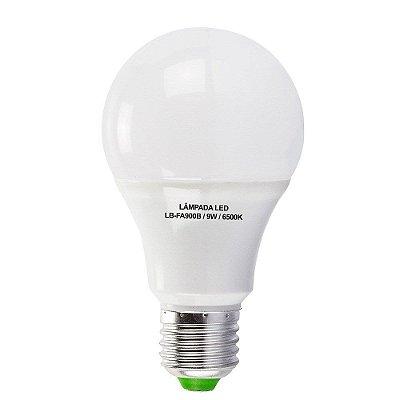 Lâmpadas 9W LED Bulbo E27, 600K, Bivolt - Branco Frio