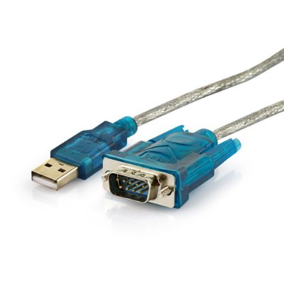 Conversor USB 2.0 X serial RS232 Cristal - 1 metro