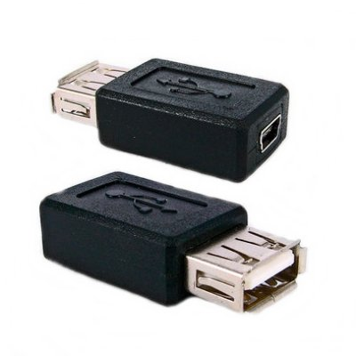 Adaptador Mini USB Fêmea 5 pinos X USB Fêmea