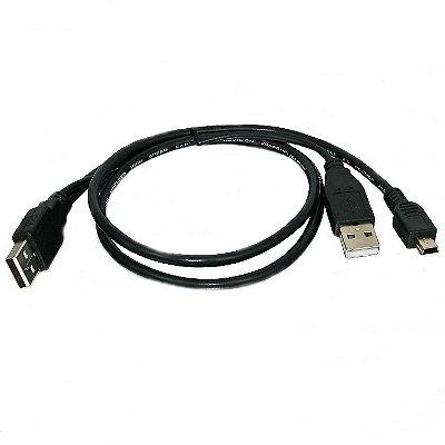 Cabo USB para USB Mini - 30cm