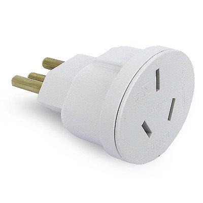 Plug Adaptador AC 3 Pinos Chato 20A - Padrão Europeu