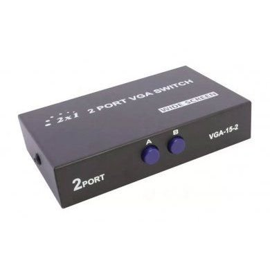 Chaveador Switch VGA 2 Portas