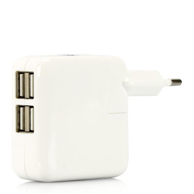Carregador para iPhone, iPad e iPod com 4 portas USB