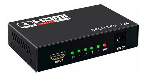 Mini Splitter HDMI 1 entrada e 4 saídas