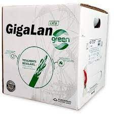 Cabo de Rede Cat6 Furukawa Gigalan Green caixa 305 metros - Cinza
