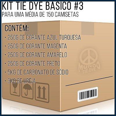 Kit Tie-Dye Básico 3 - 120 camisetas+