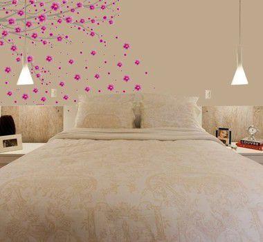 Adesivo de Parede -  Galhos de cerejeira com ''cristais'' 100x70cm