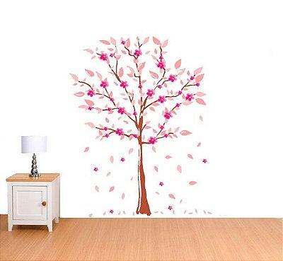 Adesivo de Parede - Arvore Rosa 140x190cm