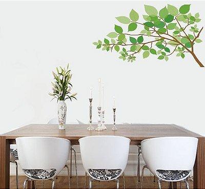 Adesivo de Parede - Folhas Verdes 90x50cm