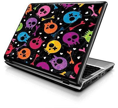 Adesivo de  Notebook - Caveirinha Color 11 a 15 pol