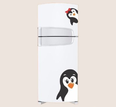 Adesivo de Cozinha -  Mamãe Pinguim 44x45cm