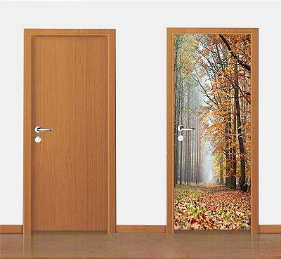 Adesivo para porta - Final de Outono 90X210 cm