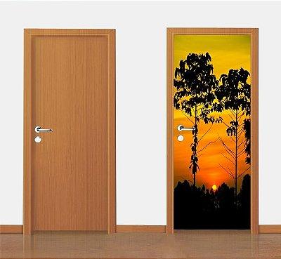 Adesivo para porta -  Por do Sol   90X210 cm