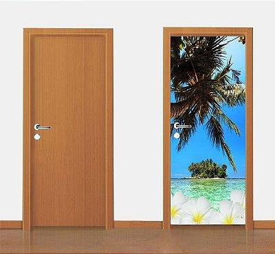 Adesivo para porta - Tropical 90X210 cm