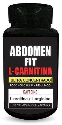 Abdomen Fit L-carnitina - 120 Compr. 800mg - Nutrigold