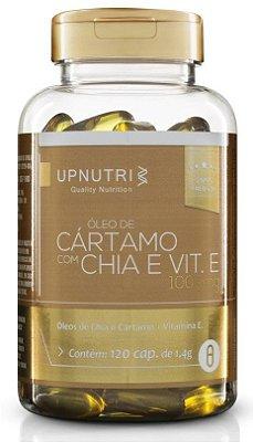 Oleo de Cártamo + Oleo de Chia + Vitamina E - 120 cápsulas - Upnutri