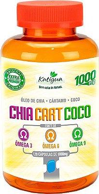 Oleo de Chia + Cartamo + Coco (Omega 3-6-9) de 120 Caps