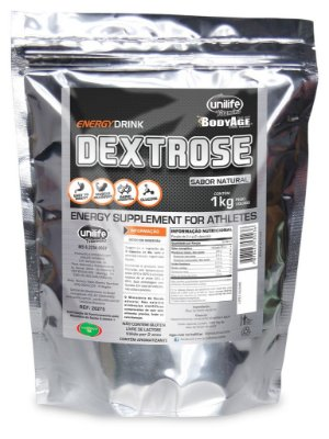 Dextrose - 1Kg Sabor natural - Unilife