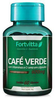 Café Verde 60 caps com 600mg FortVitta