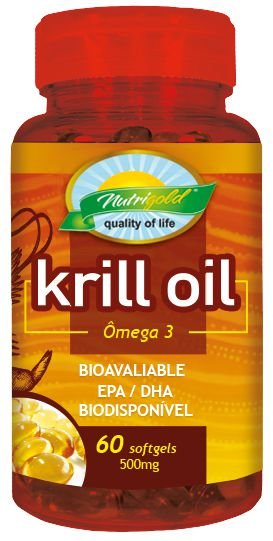 Krill Oil Omega3 - 60 Caps softgel Nutrigold (500mg)