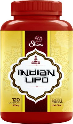 Emagrecedor Seca Barriga Indian Lipo - Shiva Natural -120caps