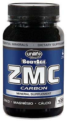 ZMC Carbon 120 Cápsulas - Cálcio, Magnésio e Zinco