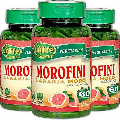 Kit com 3 Morofini - Morosil 500mg 180 caps Unilife