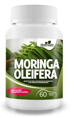 Moringa Oleifera 60 caps 100% Natural - Nutrivale