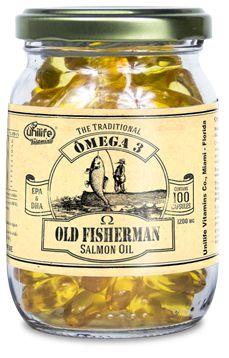 Ômega 3 Old Fisherman Salmão - 100 Cápsulas Unilife