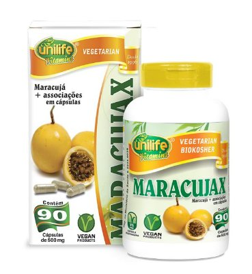 Maracujax - Calmante Natural de Maracujá 90 Cápsulas Unilife