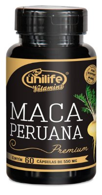 Maca Peruana Premium Pura 550MG 60 Caps Unilife