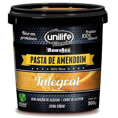 Pasta de Amendoim Integral 500g Unilife