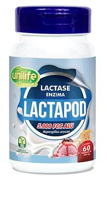 Lactapod (Lactase) - 60 Cápsulas - 5000 Fcc - Unilife