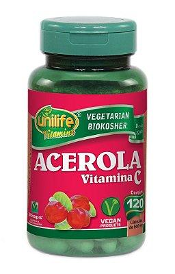 Acerola 120 Cápsulas (500mg) - Unilife