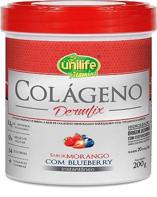 Colageno Dermfix em Pó Morango com Blueberry 200g