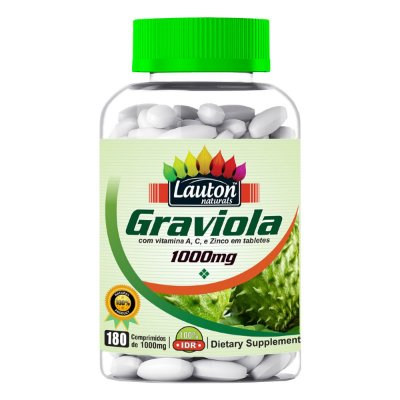 Graviola com Vitaminas – 180 Caps – 1000mg Lauton