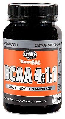 BCAA Unilife Bodyage 180 Capsulas (630mg)