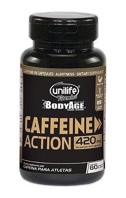 Caffeine Action  – Cafeína 60 Cápsulas (700mg) - Unilife