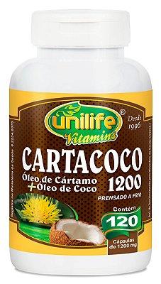 Cartacoco Oleo de Cartamo c/ Oleo de Coco 120 Caps - Unilife
