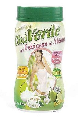 Chá Verde com Colágeno e Stevia Instantâneo (220g) - Unilife