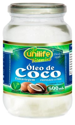 Oleo de Coco Liquido (500ml) - Unilife