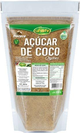 Açucar de Coco Organico em Sachê (250g) - Unilife
